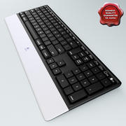 Wireless Keyboard Logitech Dinovo 3d model