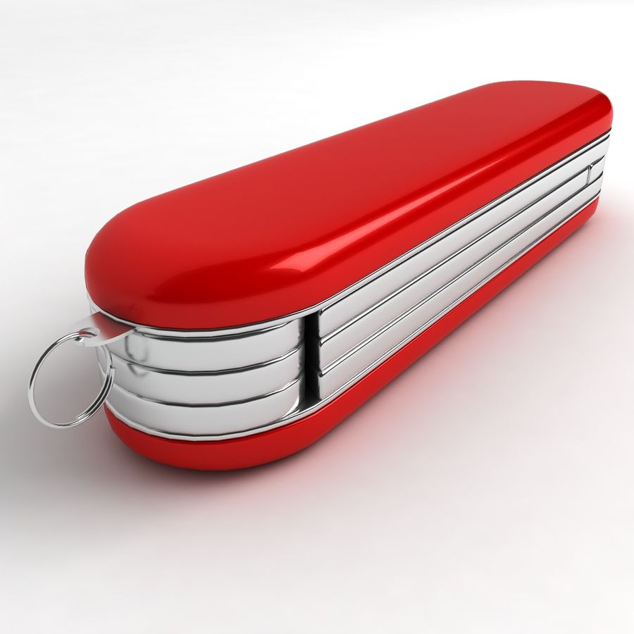 Swiss Army Knife royalty-free 3d model - Preview no. 6