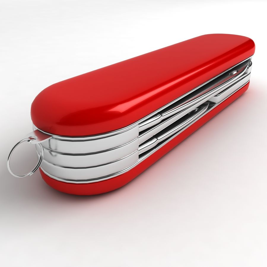 Swiss Army Knife royalty-free 3d model - Preview no. 5