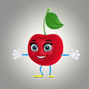 cartoon cherry 1 3d model