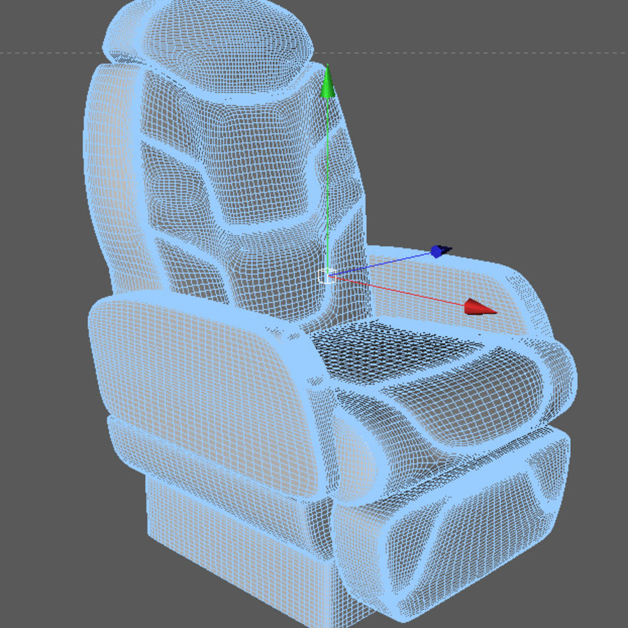 3D business aircraft seat royalty-free 3d model - Preview no. 3