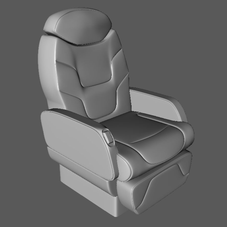 3D business aircraft seat royalty-free 3d model - Preview no. 2