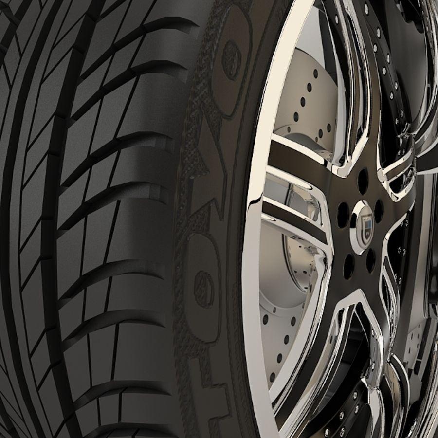 Asanti AF162 Black & Chrome royalty-free 3d model - Preview no. 2
