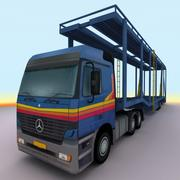 2000 Mercedes Actros trailer 3d model