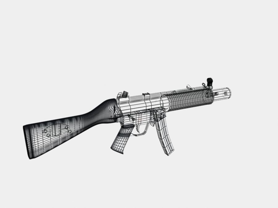 mp5 & mp sd5 royalty-free 3d model - Preview no. 2