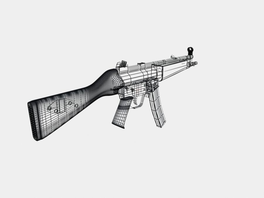 mp5 & mp sd5 royalty-free 3d model - Preview no. 3