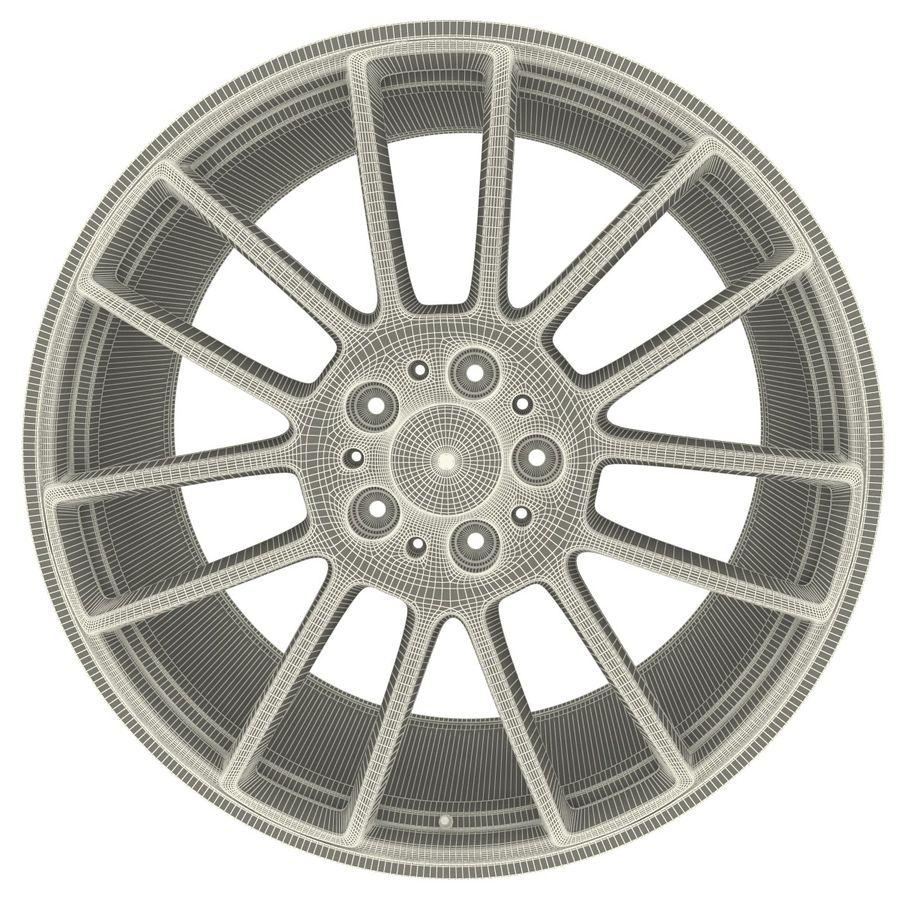 Auto Wheel Trim BBS cm royalty-free 3d model - Preview no. 8