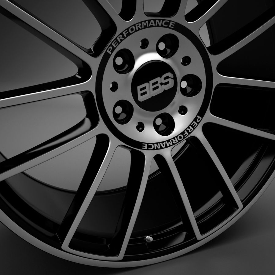 Auto Wheel Trim BBS cm royalty-free 3d model - Preview no. 5