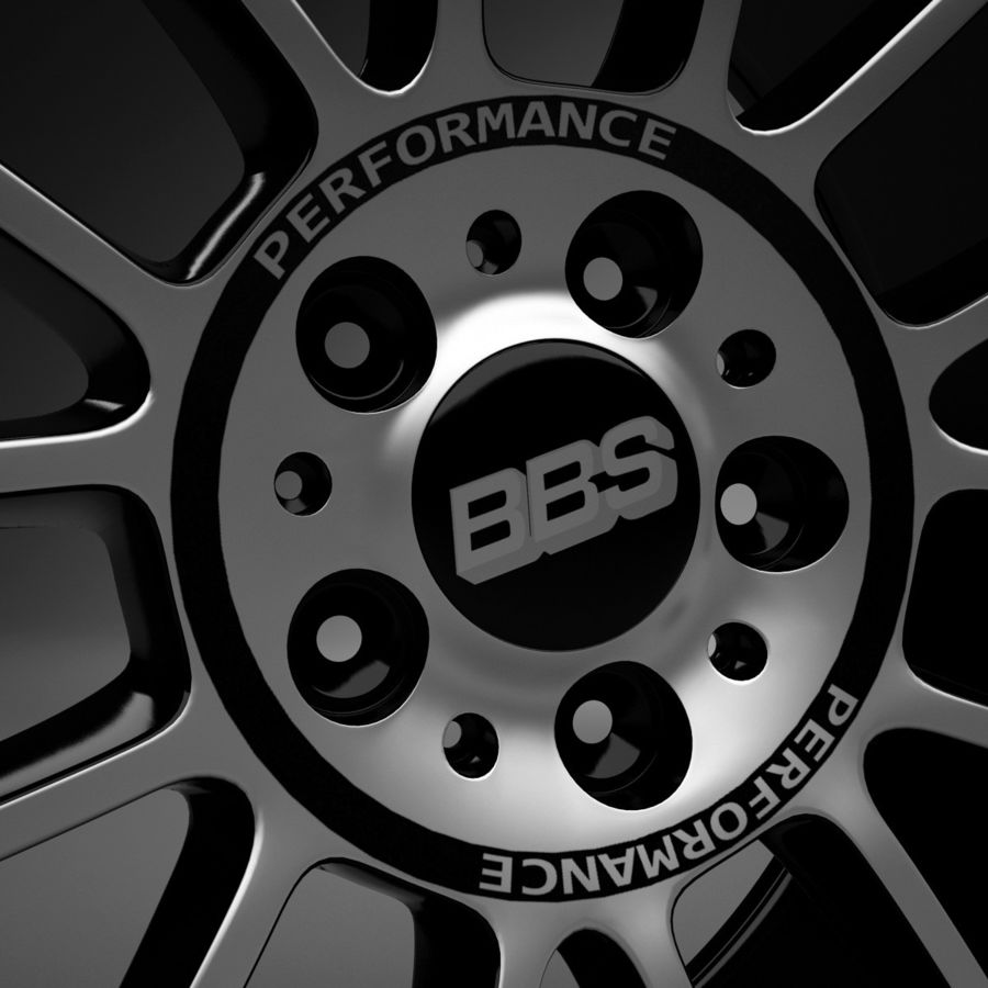 Auto Wheel Trim BBS cm royalty-free 3d model - Preview no. 6