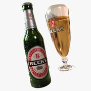 Cerveza Becks modelo 3d