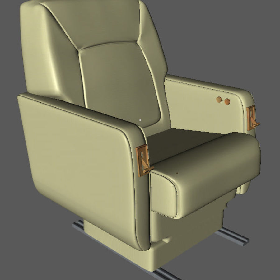 business Aircraft single Seat royalty-free 3d model - Preview no. 2