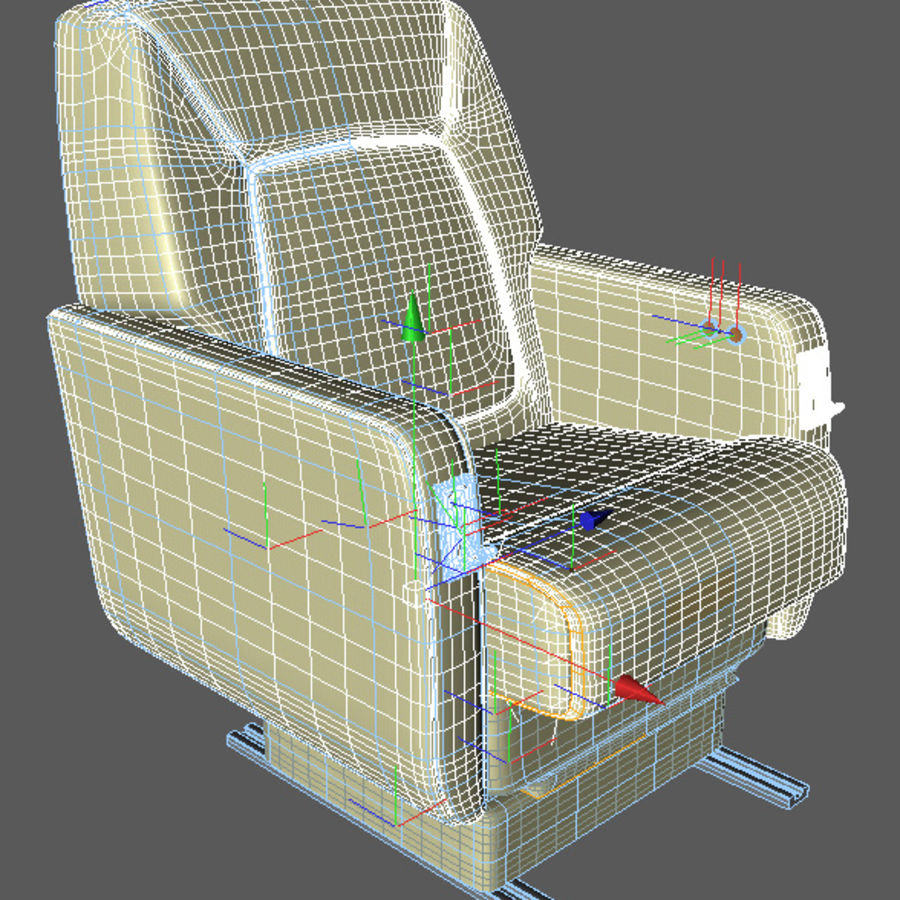 business Aircraft single Seat royalty-free 3d model - Preview no. 3
