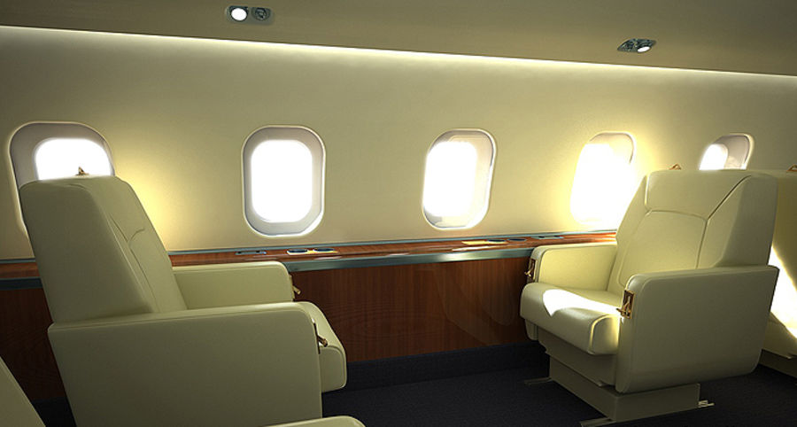 business Aircraft single Seat royalty-free 3d model - Preview no. 1