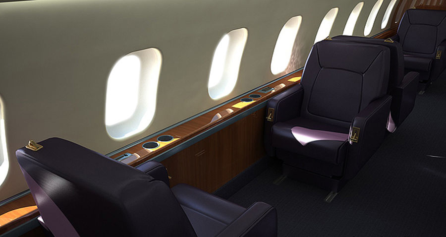 business Aircraft single Seat royalty-free 3d model - Preview no. 4