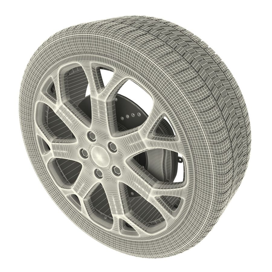 Car Wheel royalty-free 3d model - Preview no. 9