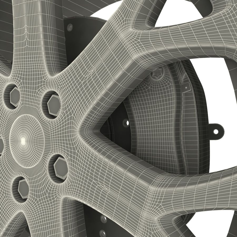 Car Wheel royalty-free 3d model - Preview no. 10