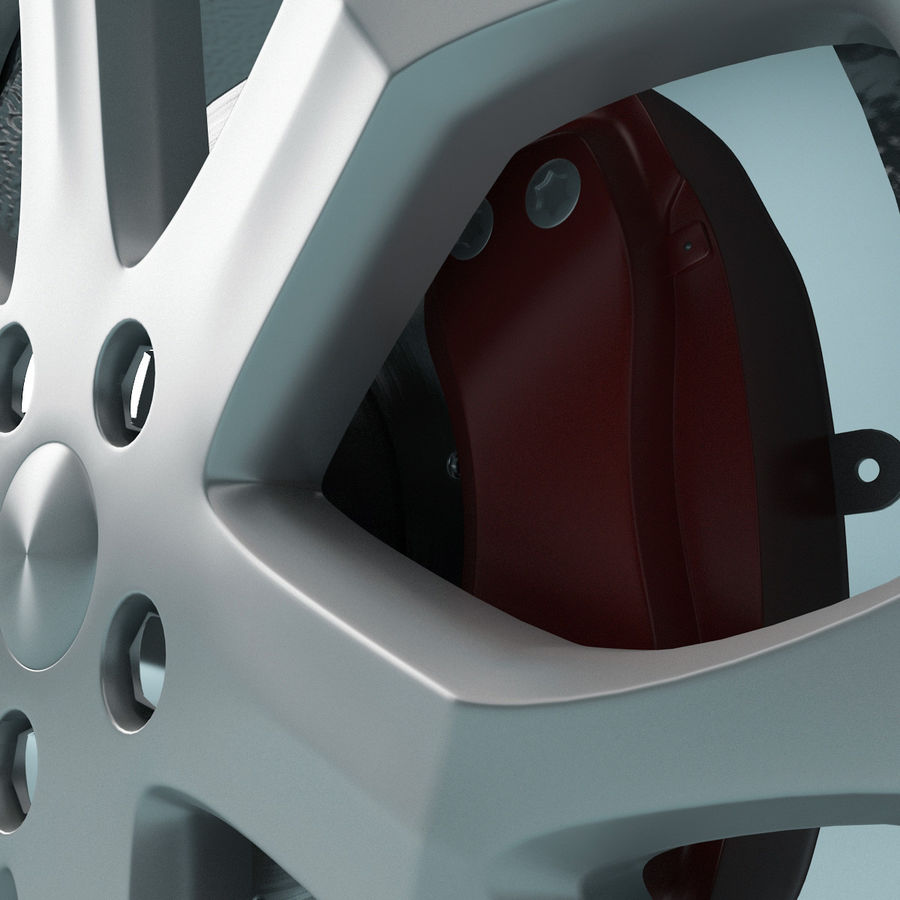 Car Wheel royalty-free 3d model - Preview no. 6