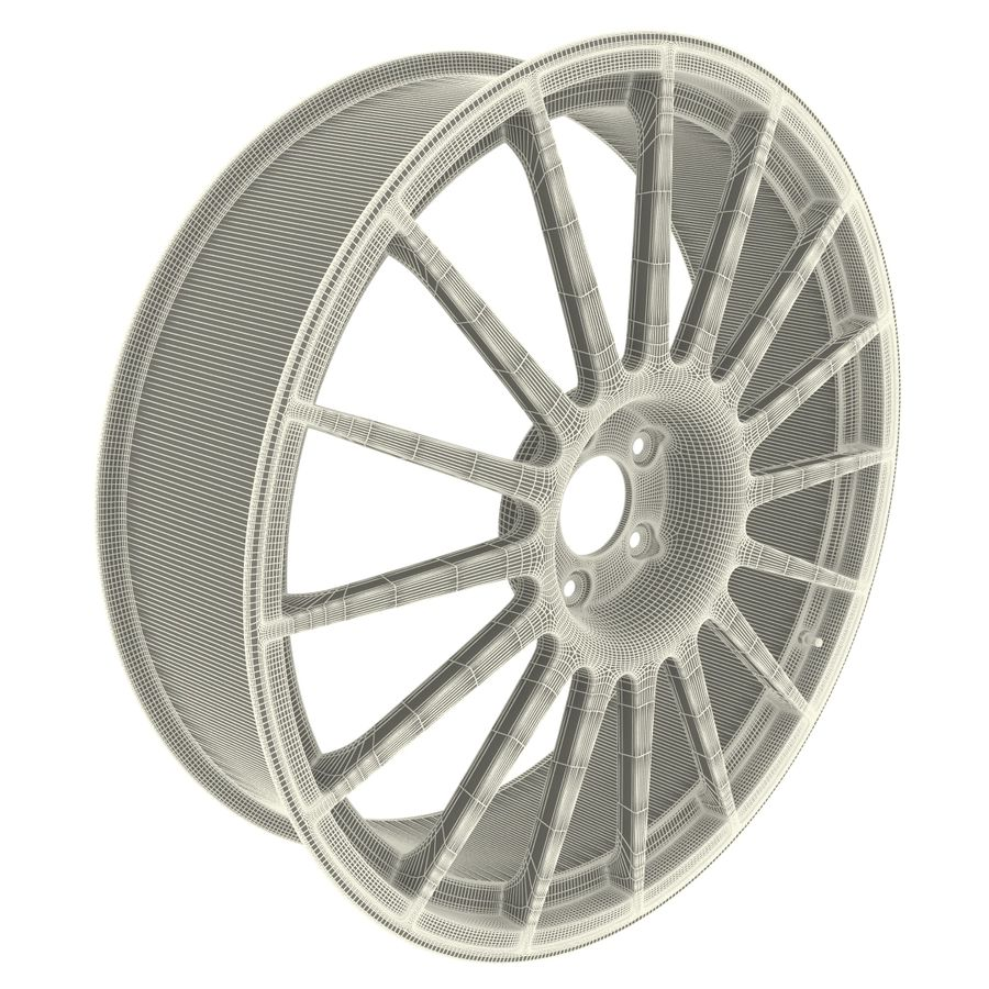Auto Wheel Trim OZ Asfalto royalty-free 3d model - Preview no. 11