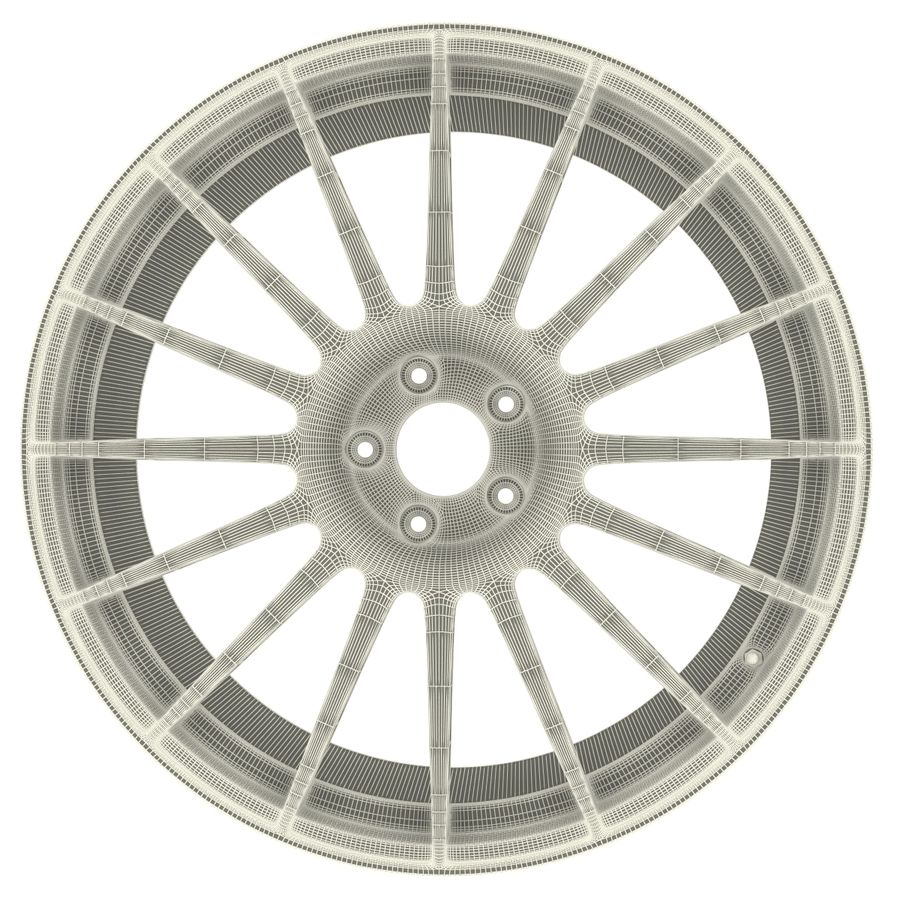 Auto Wheel Trim OZ Asfalto royalty-free 3d model - Preview no. 10