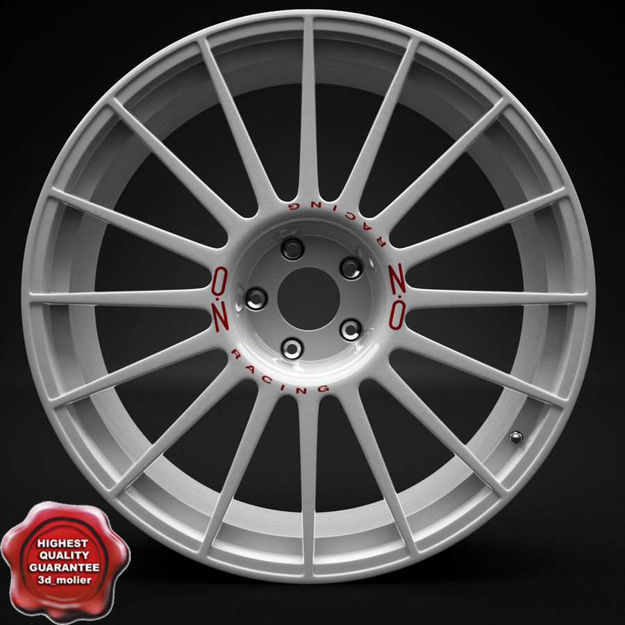 Auto Wheel Trim OZ Asfalto royalty-free 3d model - Preview no. 1
