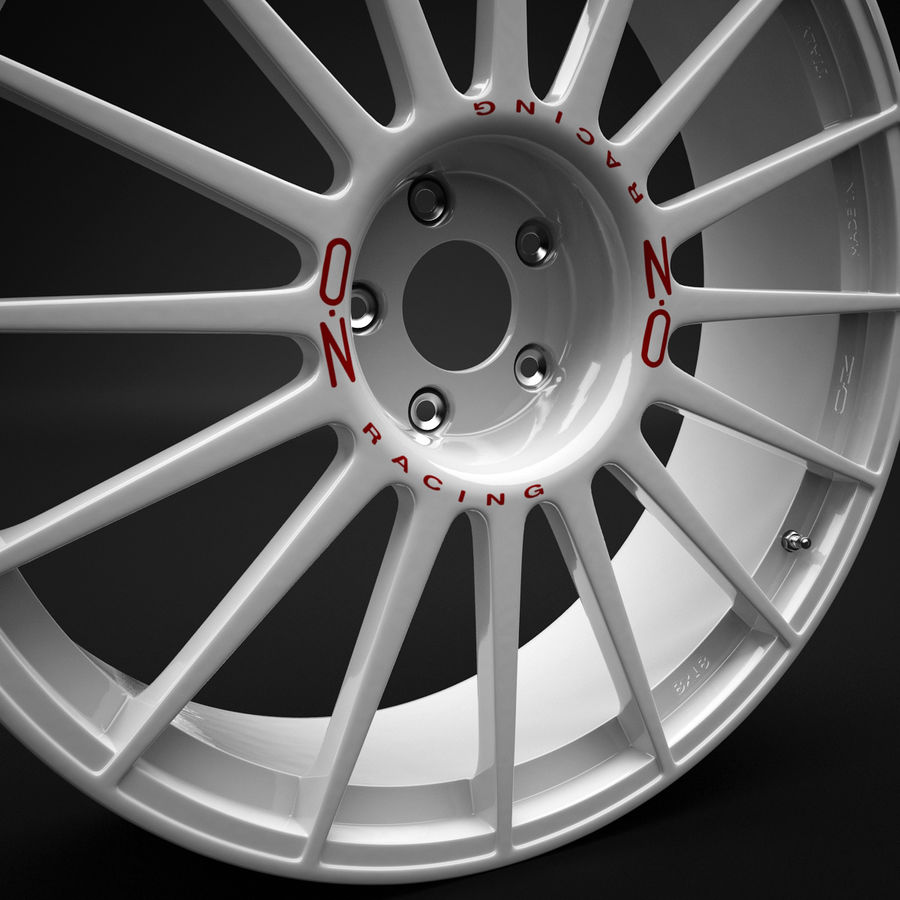 Auto Wheel Trim OZ Asfalto royalty-free 3d model - Preview no. 5