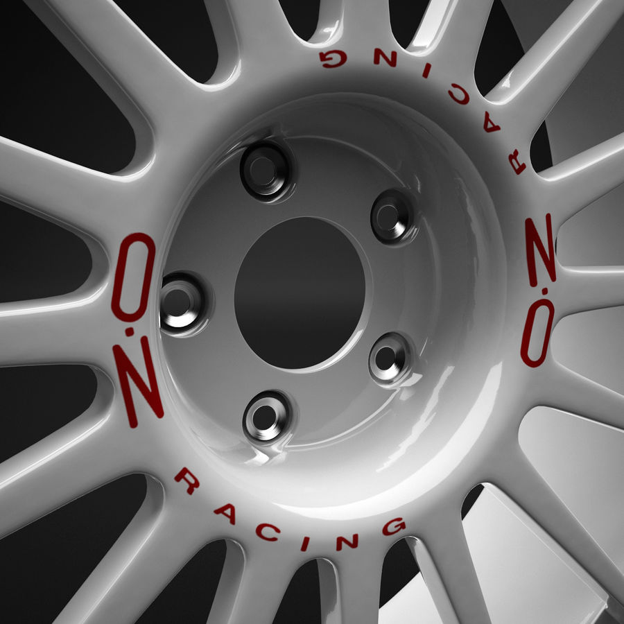 Auto Wheel Trim OZ Asfalto royalty-free 3d model - Preview no. 6