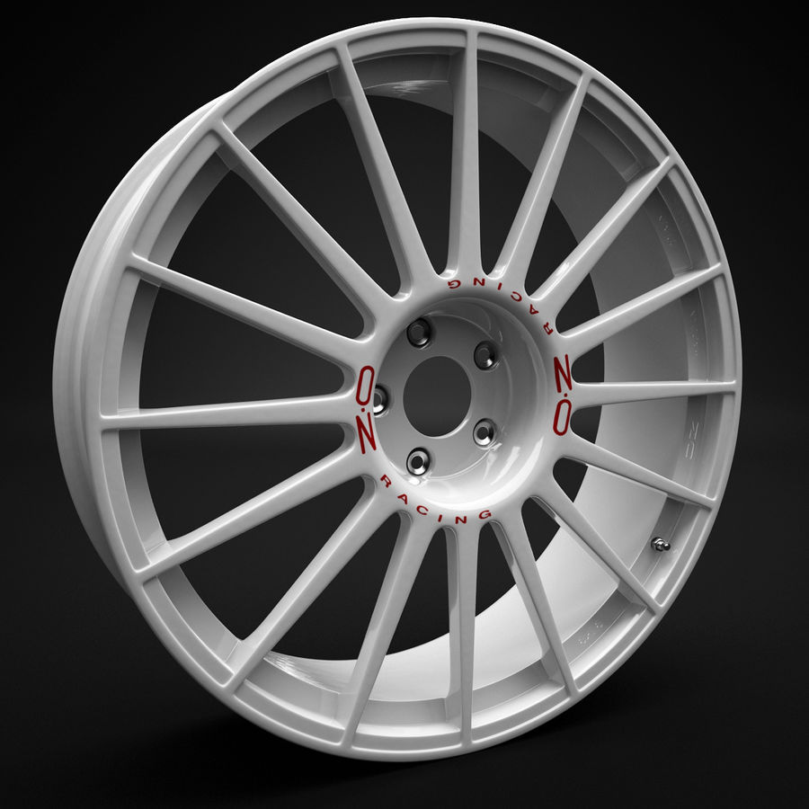 Auto Wheel Trim OZ Asfalto royalty-free 3d model - Preview no. 2