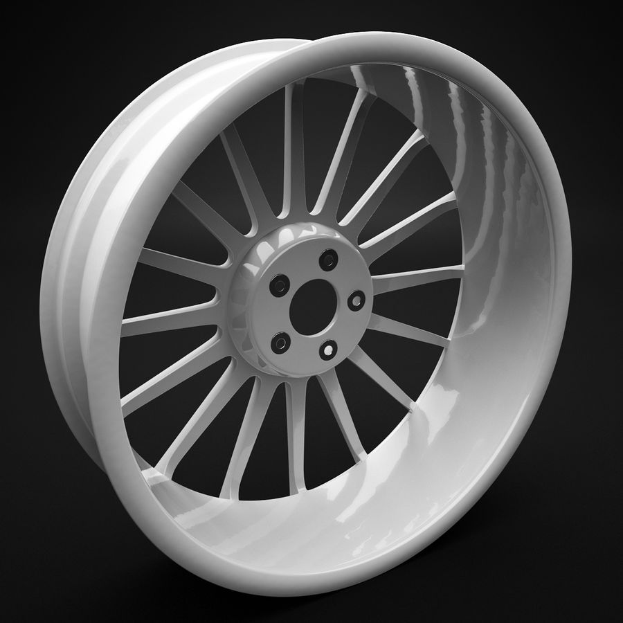 Auto Wheel Trim OZ Asfalto royalty-free 3d model - Preview no. 4