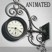Reloj de calle animado modelo 3d