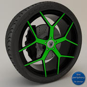 Asanti AF1 Monoblock 164 Green & Black 3d model