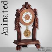 表时钟3动画 3d model