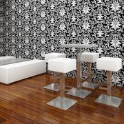 Cafe Bar Chair & Table Set 3 3d model