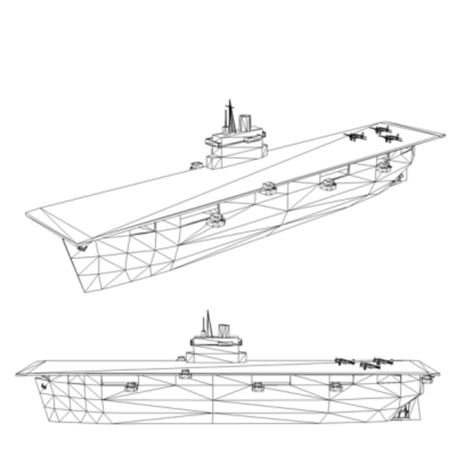 Aircraft Carrier 1939 - 1945 royalty-free 3d model - Preview no. 4