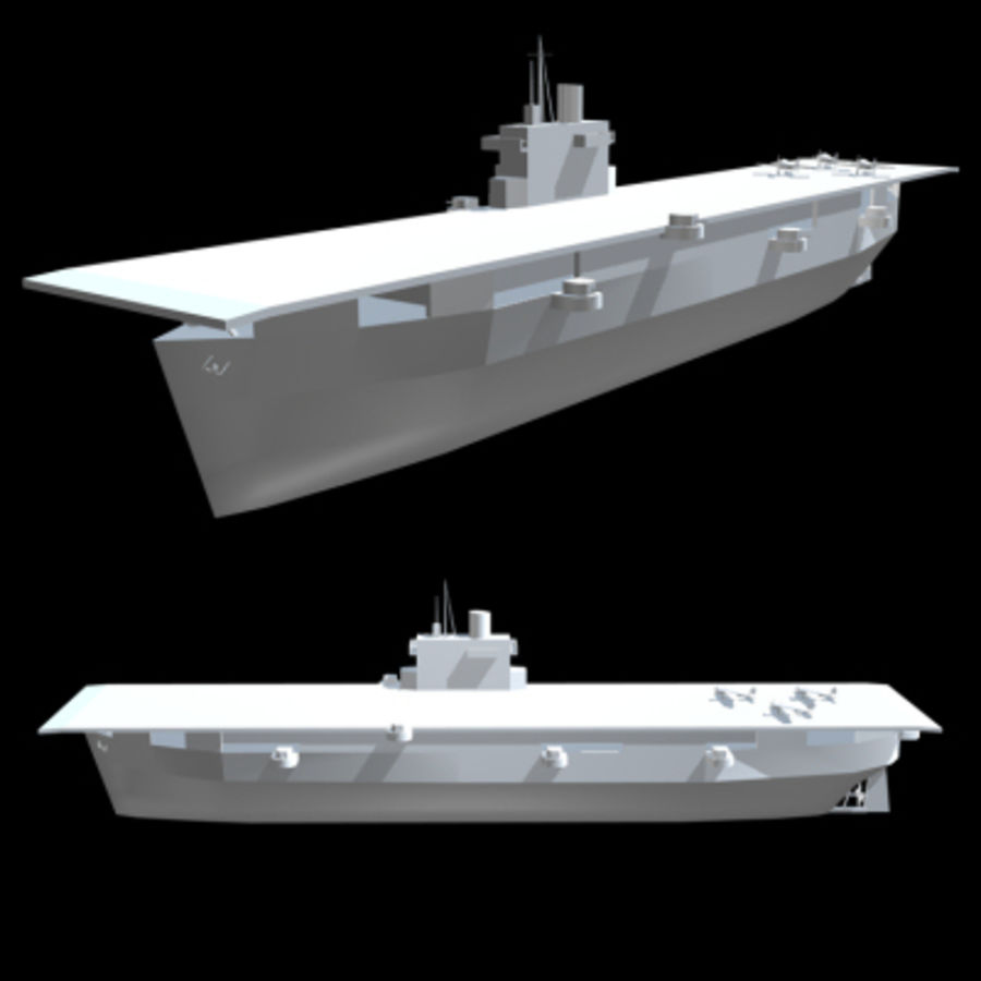 Aircraft Carrier 1939 - 1945 royalty-free 3d model - Preview no. 3