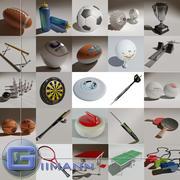 3D Sports Equipment 3d model
