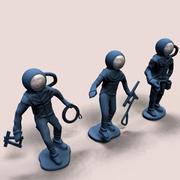 Toy Plastic Spacemen 3d model