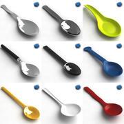 Collezione cucchiaini 3d model