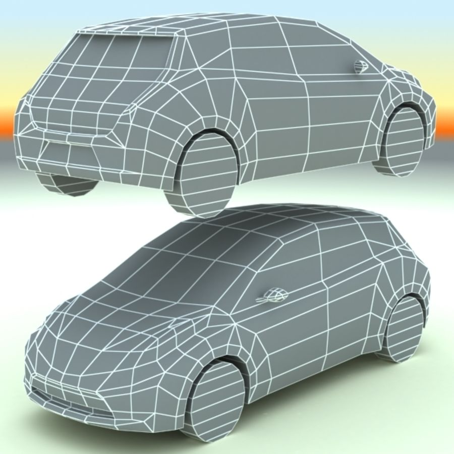 2011 Nissan  LEAF royalty-free 3d model - Preview no. 10