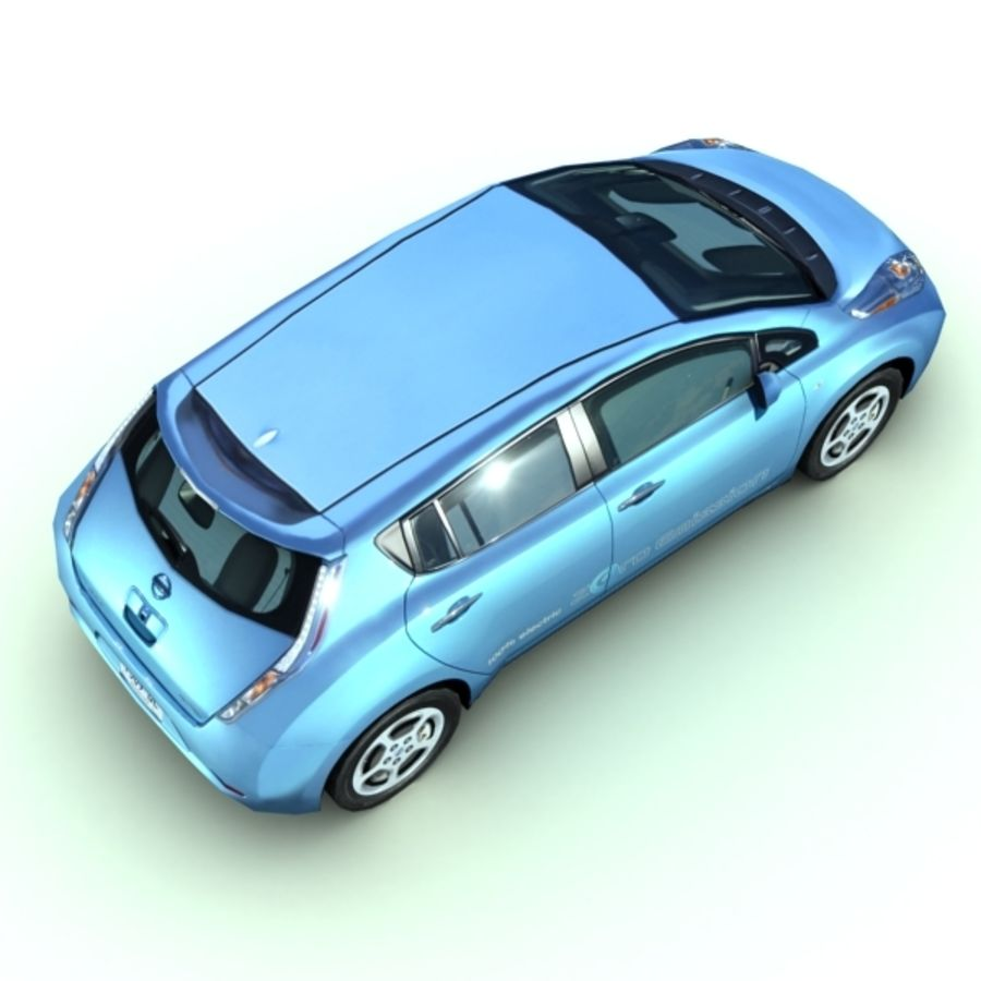 2011 Nissan  LEAF royalty-free 3d model - Preview no. 4