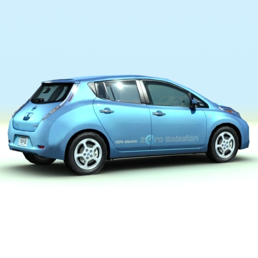 2011 Nissan  LEAF royalty-free 3d model - Preview no. 3