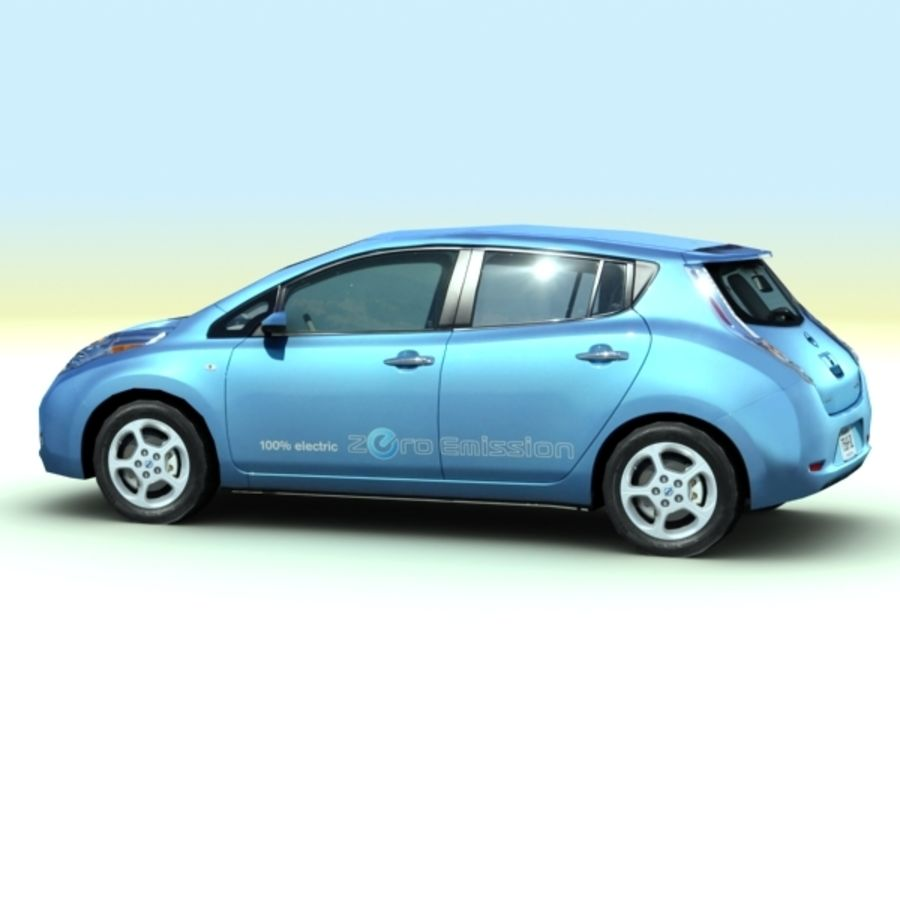 2011 Nissan  LEAF royalty-free 3d model - Preview no. 5
