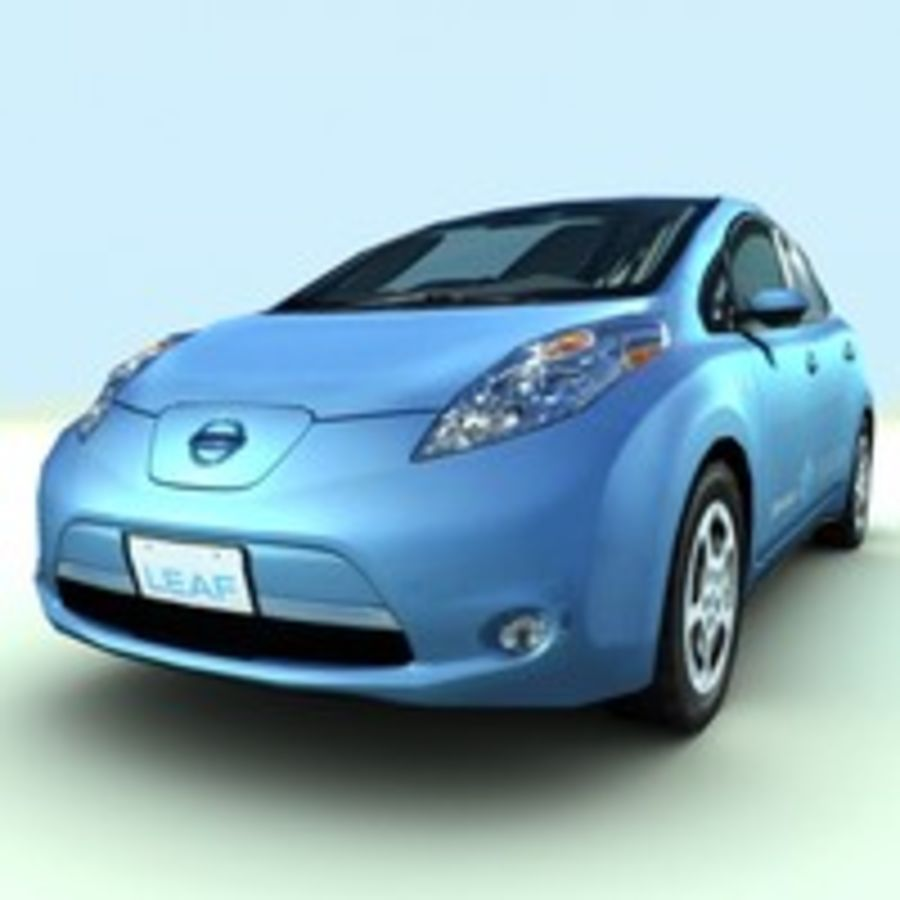 2011 Nissan  LEAF royalty-free 3d model - Preview no. 9