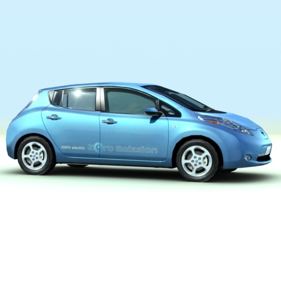 2011 Nissan  LEAF royalty-free 3d model - Preview no. 6