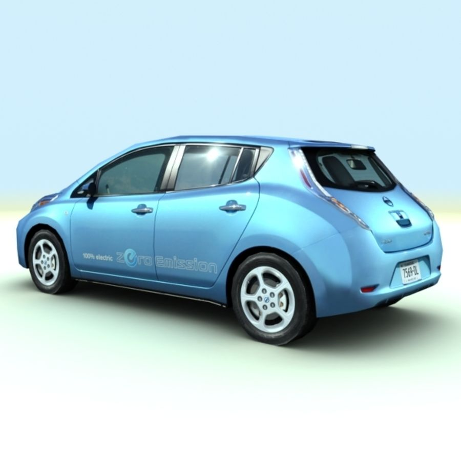 2011 Nissan  LEAF royalty-free 3d model - Preview no. 8