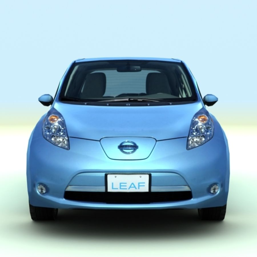 2011 Nissan  LEAF royalty-free 3d model - Preview no. 1