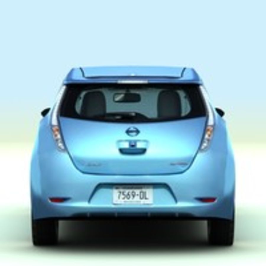 2011 Nissan  LEAF royalty-free 3d model - Preview no. 7