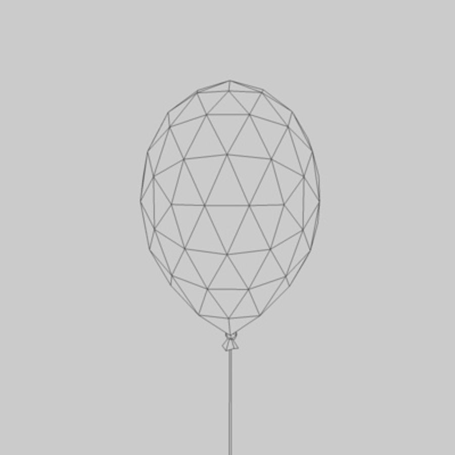 Balloon royalty-free 3d model - Preview no. 3