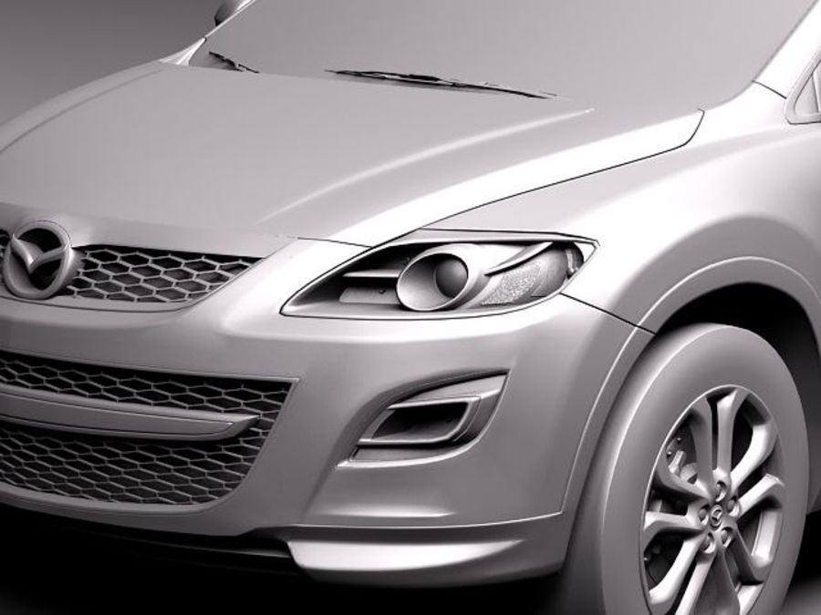 Mazda CX-9 2011 royalty-free 3d model - Preview no. 11