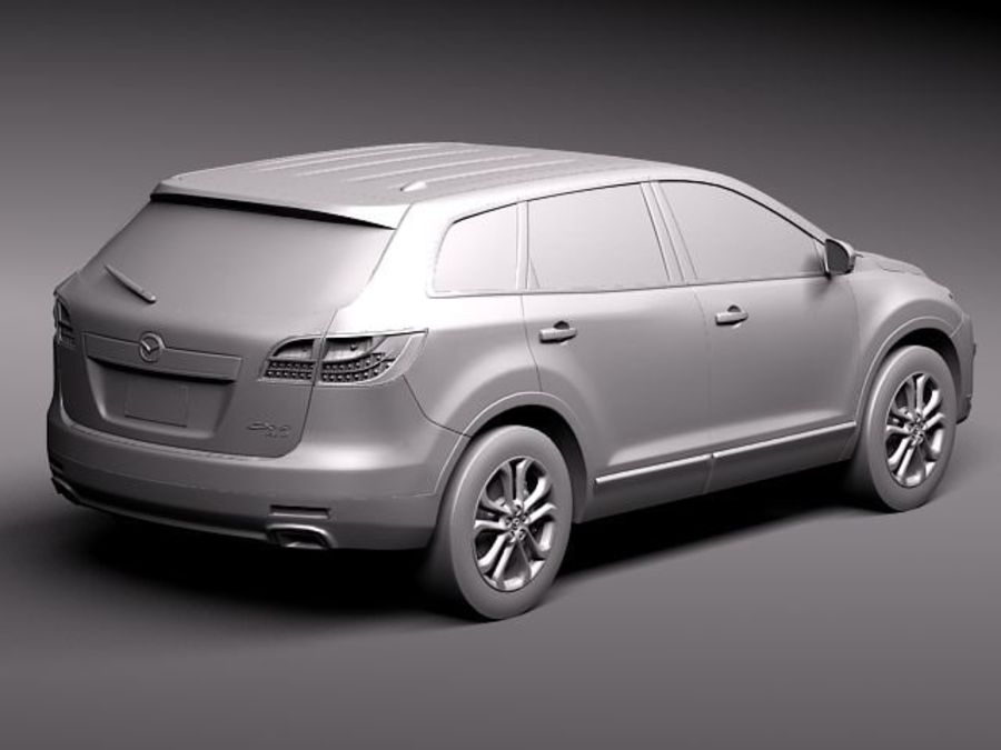 Mazda CX-9 2011 royalty-free 3d model - Preview no. 9