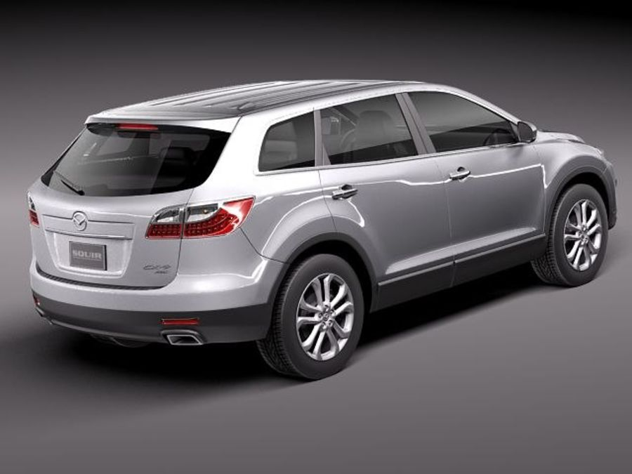 Mazda CX-9 2011 royalty-free 3d model - Preview no. 5